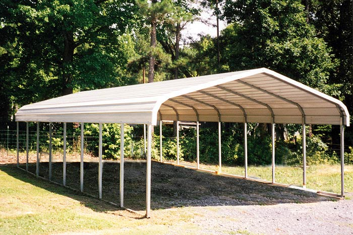 Prefab Aluminum Carports : Kasperskorner prefabricated metal garage storage shed